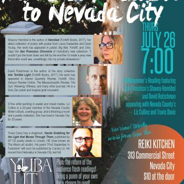 "Yuba Lit Presents ""From San Francisco to Nevada City"" Thursday July 26th"